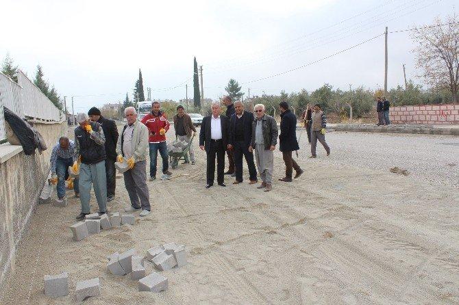 Samsat Belediyesi Yol Çalışmalarına Devam Ediyor