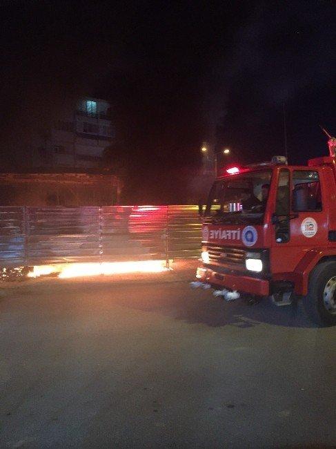 Manavgat'ta İnşaat Yangını Korkuttu