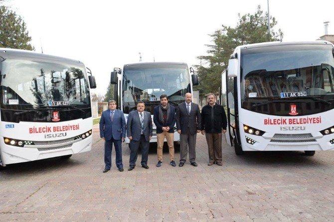 Bilecik Belediyesi Tarafından Alınan 3 Yeni Otobüs Hizmete Girdi