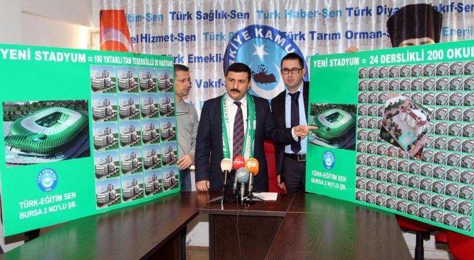 Belediyenin yaptığı Timsah Arena ile 200 okul, 20 hastane yapılabilir