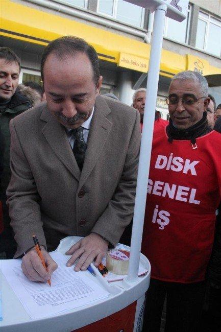 Edirne Belediye Başkanı Gürkan'dan Taşeron İşçilere Destek