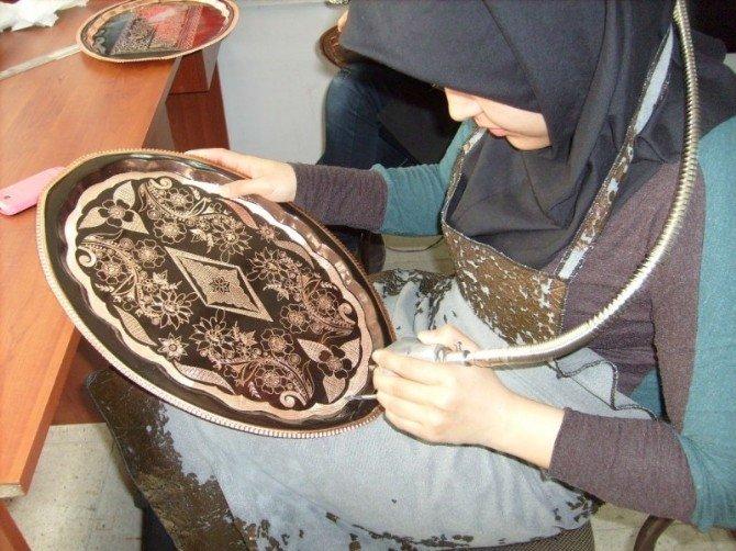 Erzincan Da Çelik Kalem Bakır İşlemeciliği Kursu Açılıyor