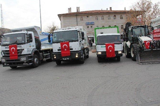 İncesu Belediyesi Araç Filosuna 4 Yeni Araç Daha Kattı