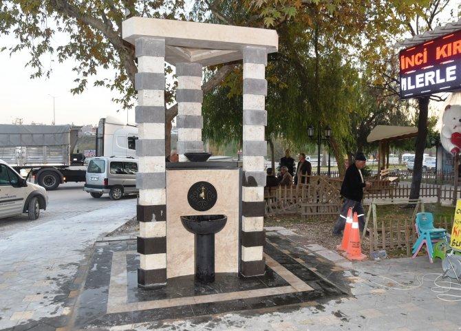 Sarıçam Belediyesi'nin yaptırdığı çeşme hizmete açıldı