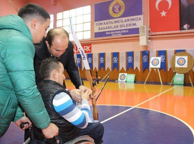 Ordu'da Bedensel Engelli Sporcular Okçuluk Faaliyetlerine Başladı