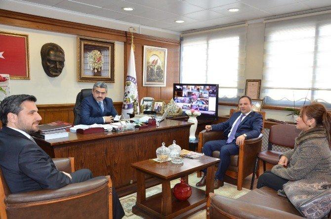 Aydın Baro Başkanından Başkan Alıcık'a Ziyaret