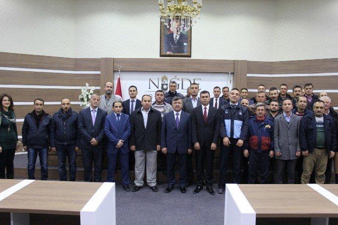 Belediye İşçilerinden Başkan Akdoğan'a Teşekkür Ziyareti