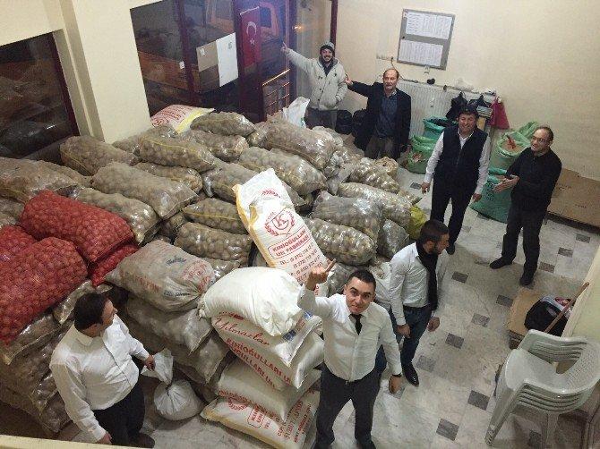 Alperenlerden Türkmenlere 10 Ton Patates