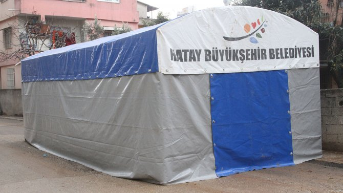 Büyükşehir Belediyesi'nden taziye çadır hizmeti