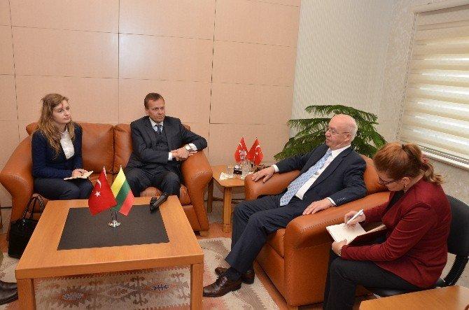 Litvanya Cumhuriyeti Ankara Büyükelçisi'nden Valilik Ziyareti