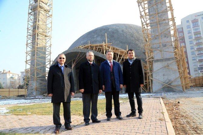 Talas'taki Cami İnşaatlarına İnceleme