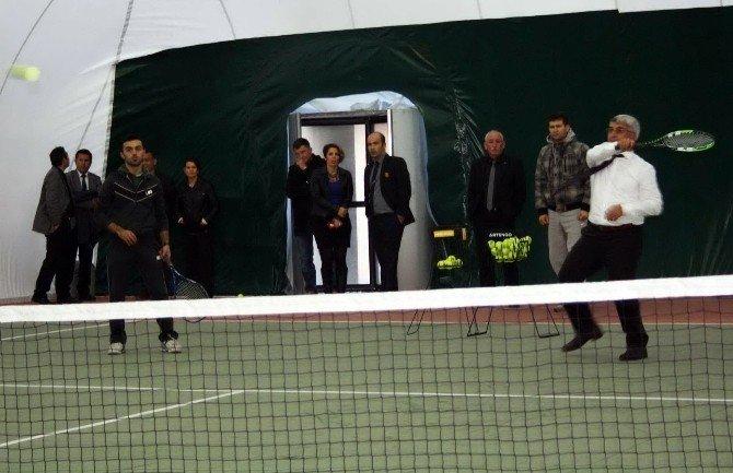 Milas'ta Tenise Protokol İlgisi