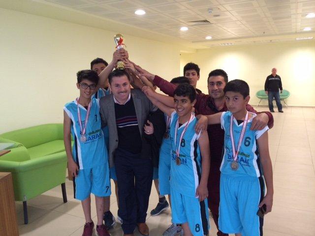 Özel Baran Koleji, ortaokullar arası basketbol turnuvasında il üçüncüsü