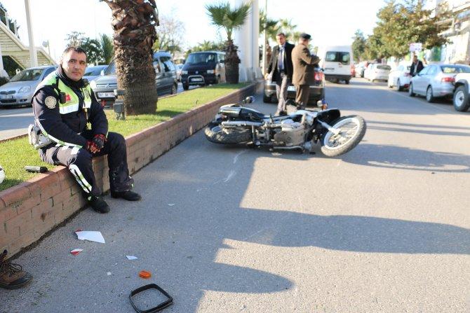 Ereğli'de trafik kazası: 1 polis yaralı