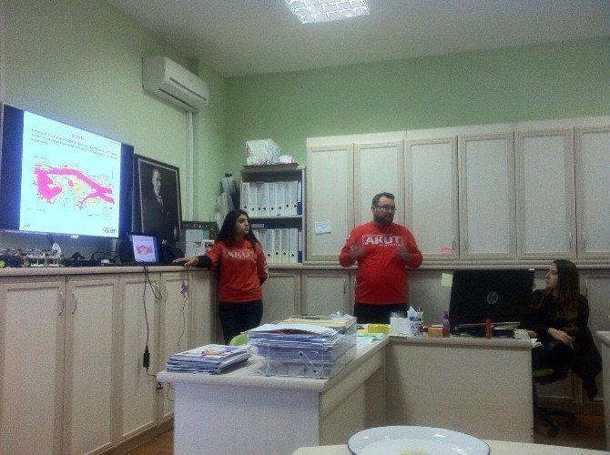 AKUT'tan Bilim Merkezi Çalışanlarına Deprem Ve Yangın Eğitimi