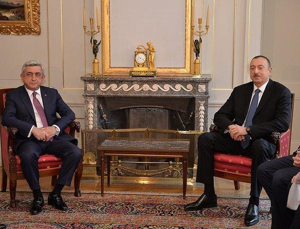 Aliyev ile Sarkisyan görüşmesi başladı