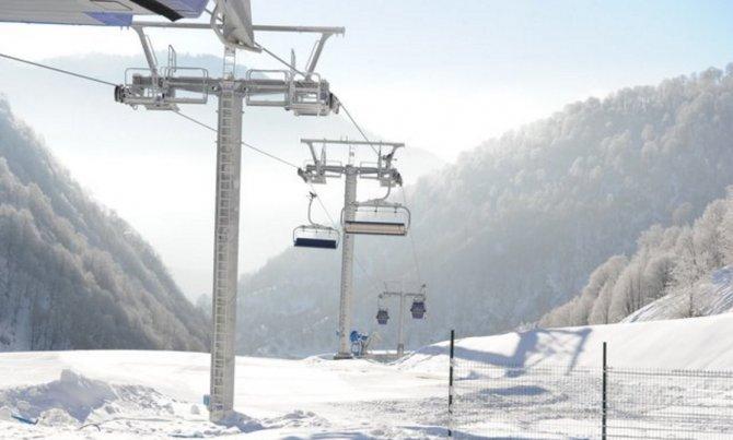 Azerbaycan'ın Gebele şehrinde kayak mevsimi bir ay önce başladı
