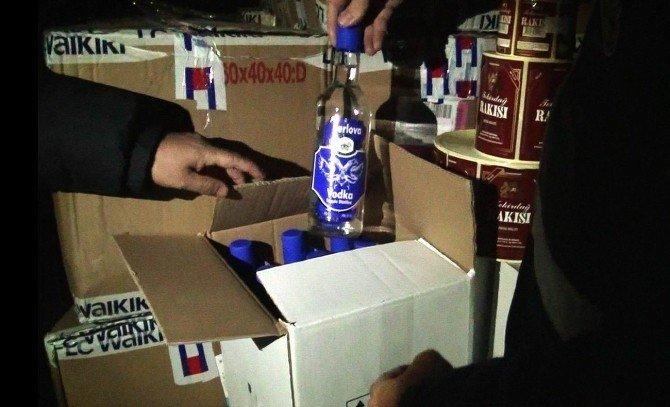 Balıkesir'de Sahte İçki Operasyonu