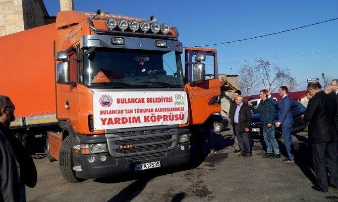 Bulancak'tan Bayırbucak Türkmenleri'ne Yardım Tırı Yola Çıktı