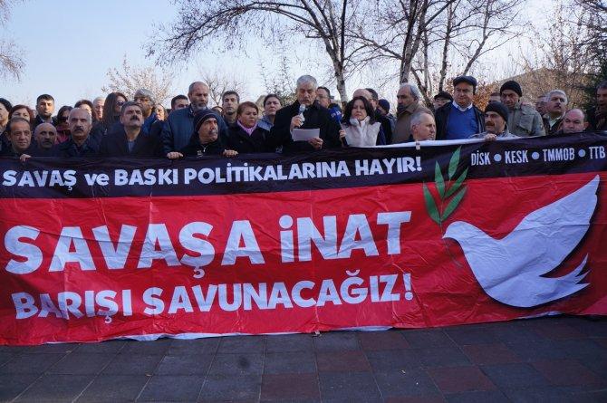 Sendika ve birliklerden 'Savaşa İnat Barışı Savunacağız' açıklaması