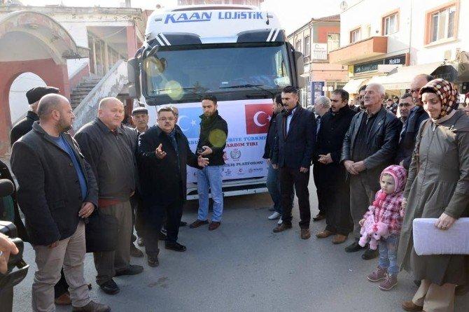 Bayırbucak Ve Suriye Türkmenlerine 1 Tır Dolusu İnsanı Yardım