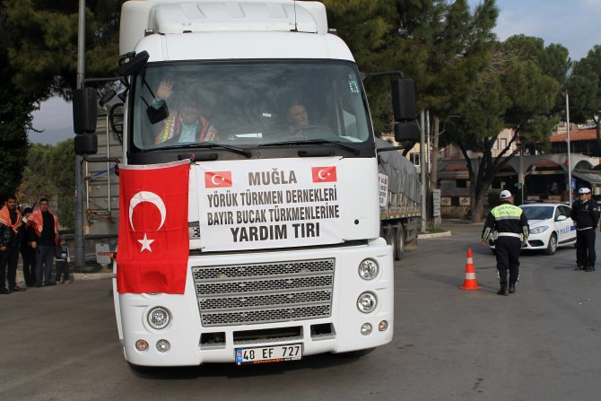 Muğla'dan Bayırbucak Türkmenlerine yardım gönderildi