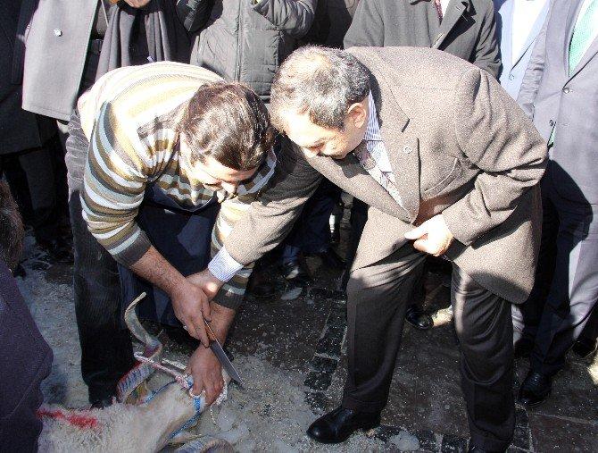 Bakan Eroğlu Şehitlik Açılışında Kurbanın Kesilmesine İzin Vermedi