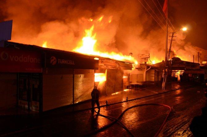Ankara'da 250 dükkanlık iş merkezinde büyük yangın