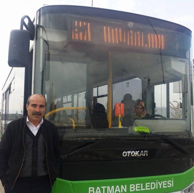Batman'da belediye otobüslerinde kadın şoför dönemi başladı