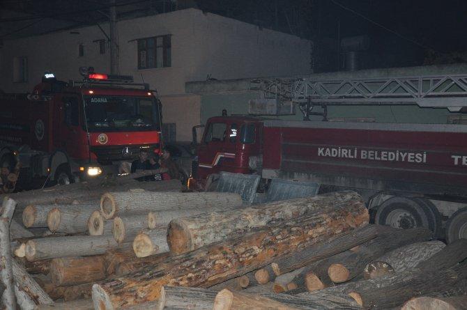 Kadirli'de iş yerinde çıkan yangın korkuttu