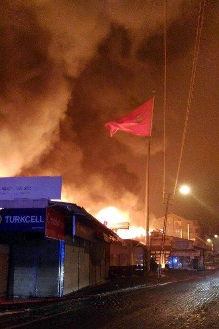 Keçiören Osmanlı Pazarında Yangın