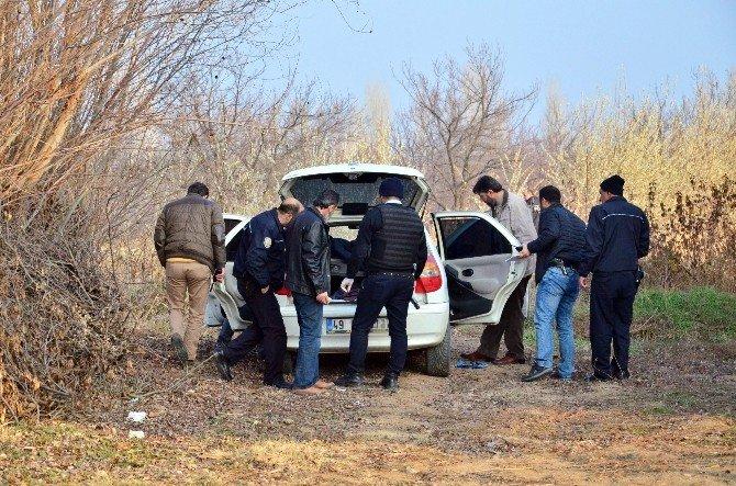 Polisten Kaçan Şüpheli Araç Terk Edilmiş Olarak Bulundu