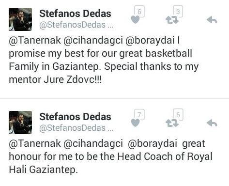 Royal Halı Gaziantep Basketbol Takımı'nın Yeni Hocası İddialı