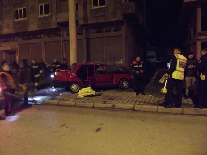 Terme'de kaza: 1 ölü, 4 yaralı