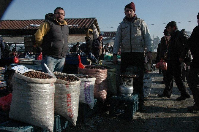 Aşırı Soğuklar Kestane Satışlarını Olumsuz Etkiledi