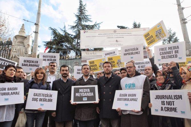 TGS'den tutuklu gazetecilere destek eylemi