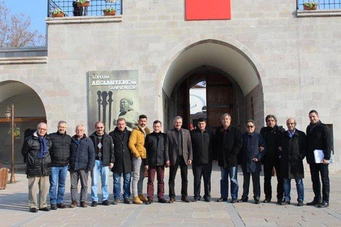Samsunlu Gazeteciler Kervansarayı Gezdi