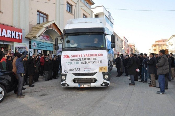 Vali Kahraman Bayırbucak Türkmenlerine Gönderilen Yardım Tır'ını Uğurladı