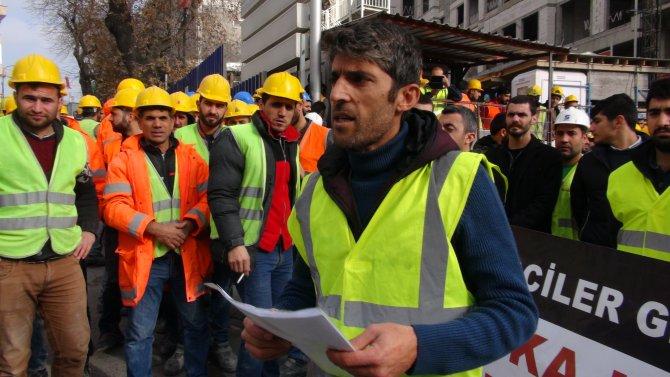 Dubai Şeyhi El Maktum'un inşaatında protesto eylemi