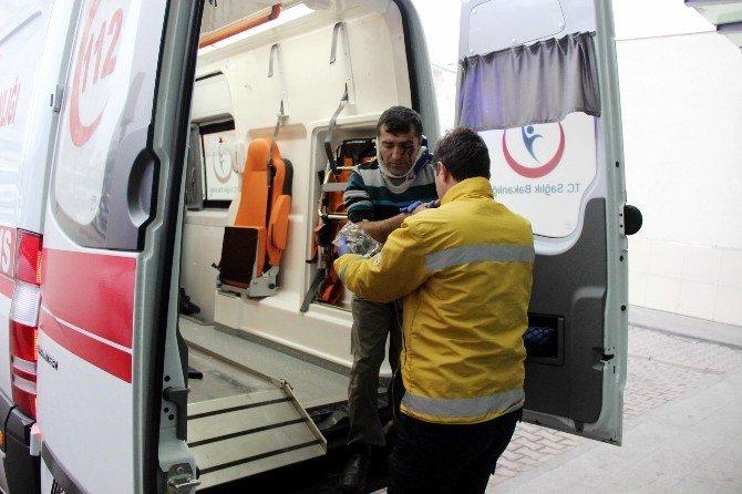 Servis Minibüsünün Devrildiği Kazada 25 İşçi Yaralandı