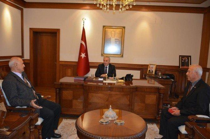 Kıbrıs Tmt Mücahitler Derneği Genel Başkanı Bora, Vali Kamçı'yı Ziyaret Etti