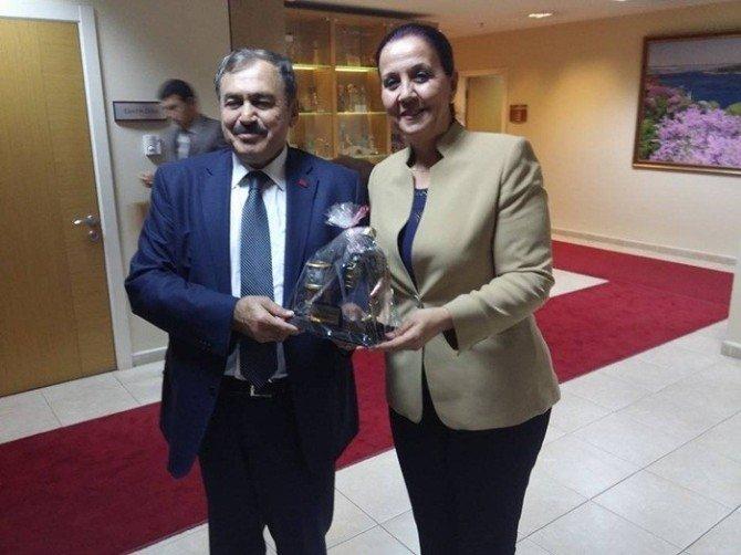 Başkan Güneş'ten Bakan Eroğlu'na Ziyaret