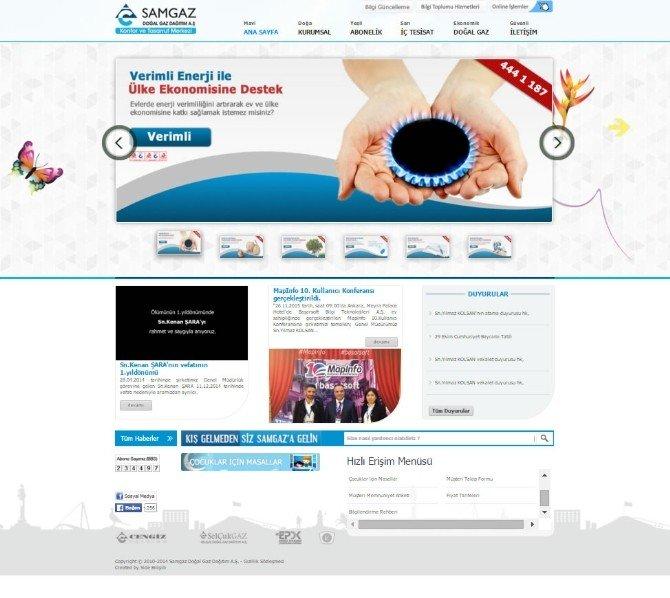 Samgaz Alt Yapısını Online Sisteme Taşıdı