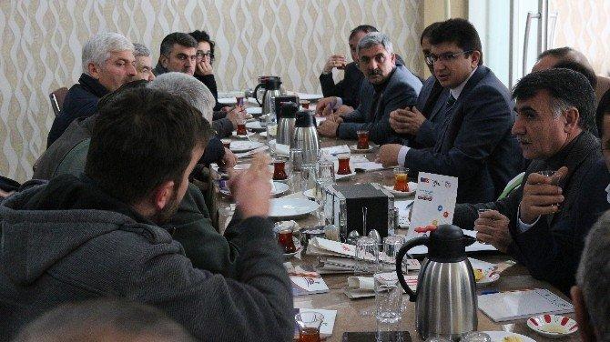 TKDK İl Koordinatörü, Ziraat Odası Başkanları İle Horasan'da Bir Araya Geldi