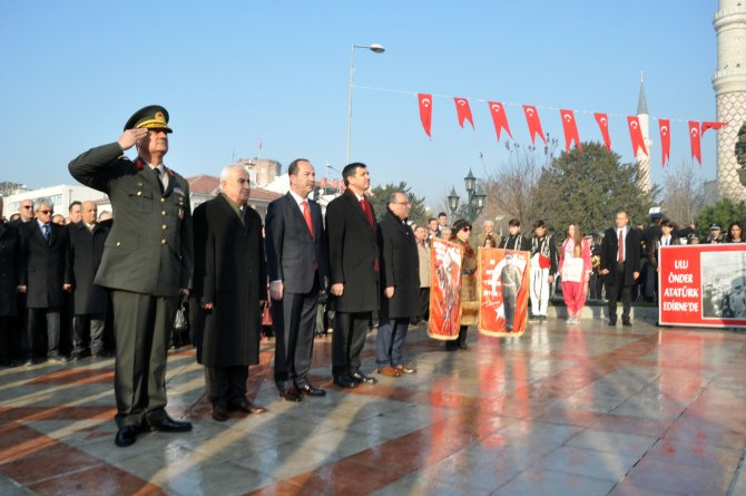 Atatürk'ün Edirne'ye gelişi coşkuyla kutlandı