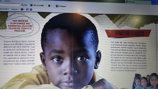 Bozüyük 'Her Sınıfın Bir Yetim Kardeşi Var' Projesine Tam Destek Verdi