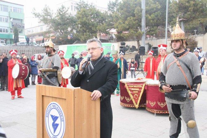 Şampiyon olan güreş takımı Yozgat'ta mehter takımı ile karşılandı