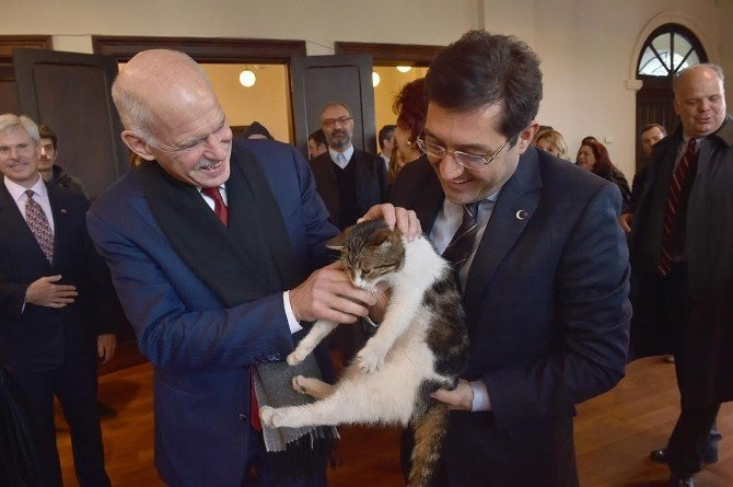 Başkan Hazinedar, Yorgo Papandreouile Bir Araya Geldi
