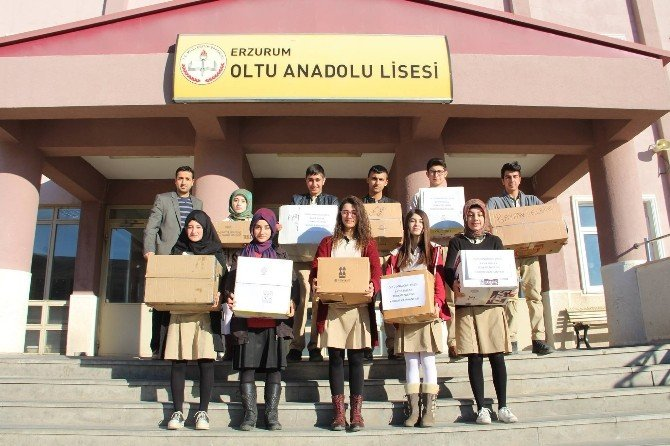 Oltu Anadolu Lisesi Öğrencilerinden Bayırbucak Türkmenlerine Yardım