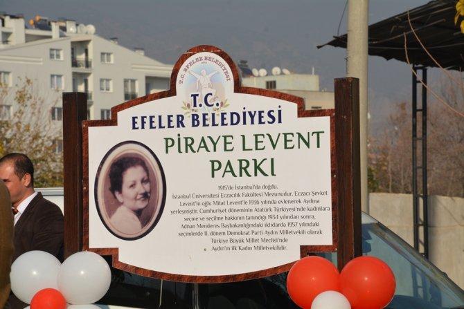 Aydın'ın ilk kadın milletvekilinin adı parka verildi